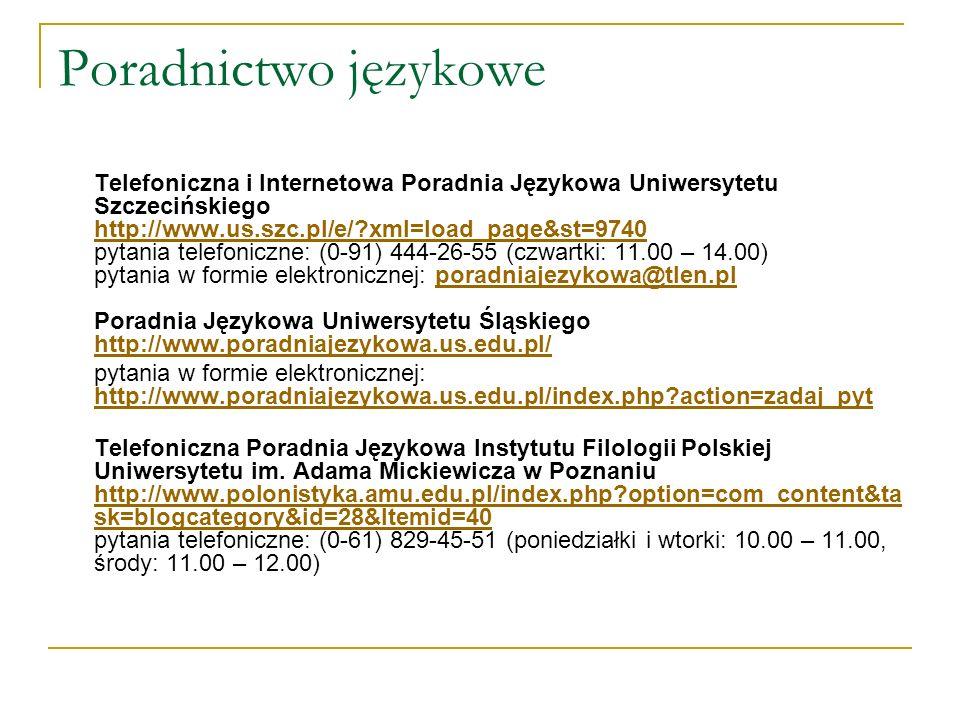 Poradnictwo językowe
