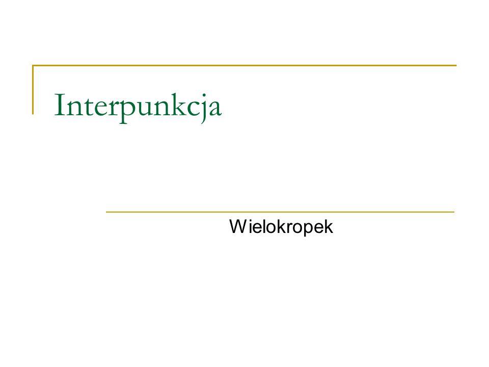 Interpunkcja Wielokropek
