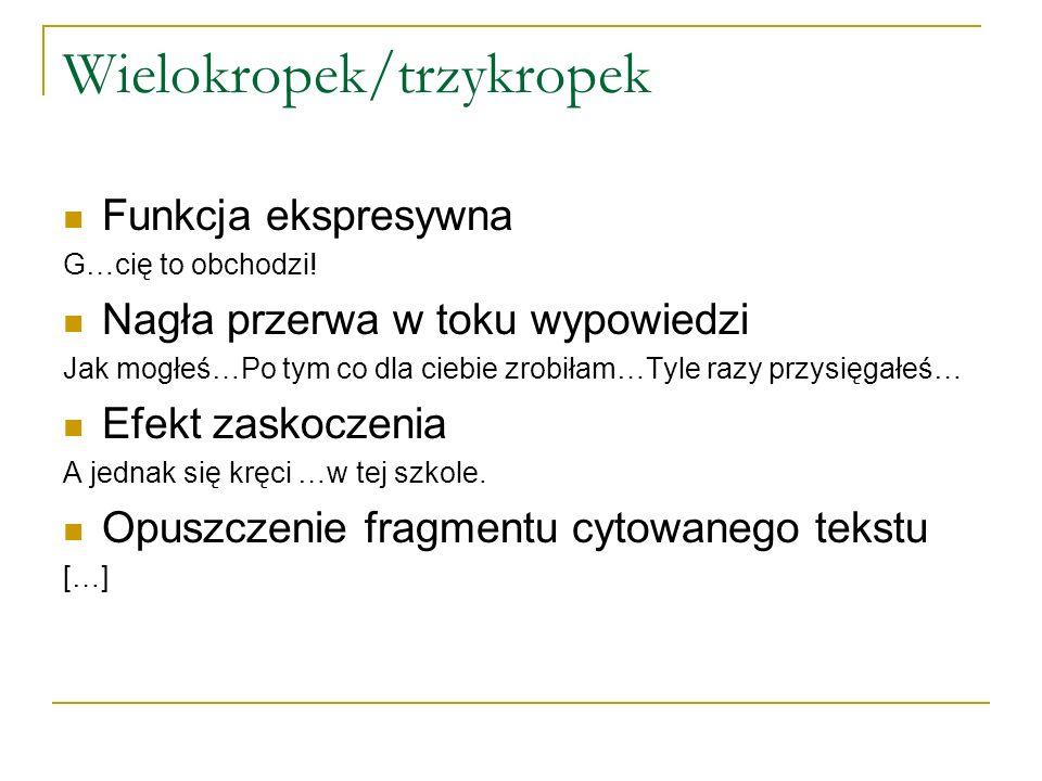 Wielokropek/trzykropek