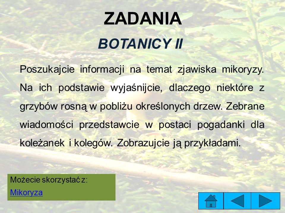ZADANIA BOTANICY II.