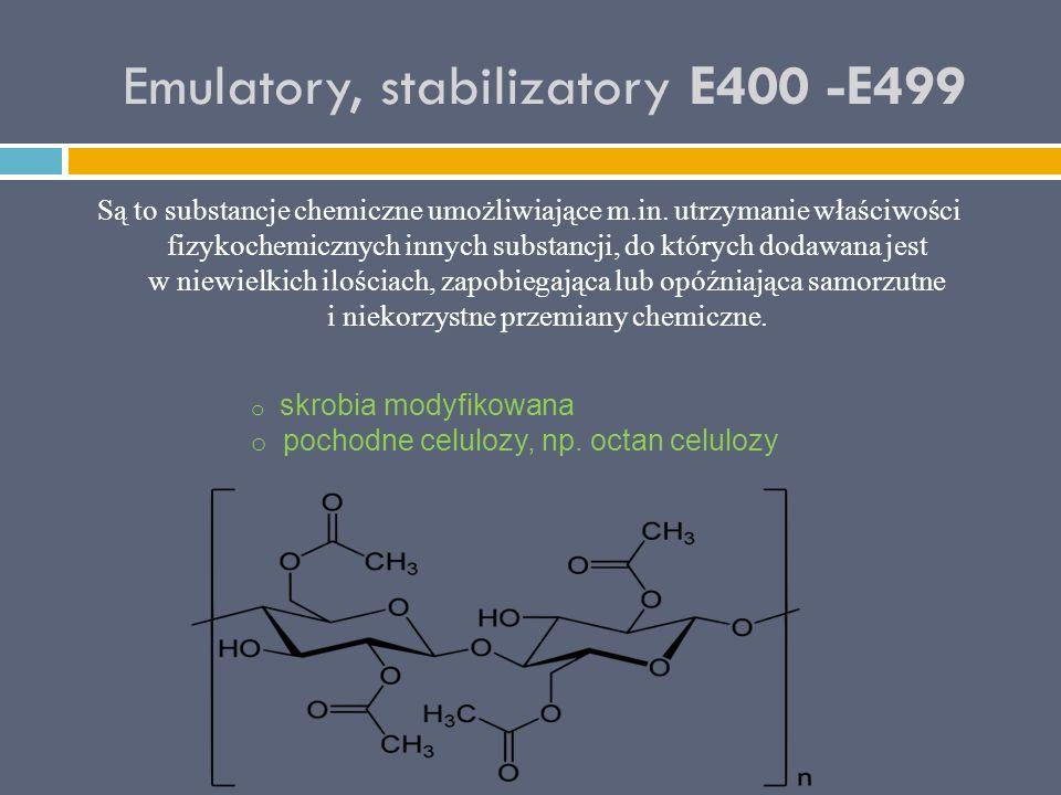 Emulatory, stabilizatory E400 -E499