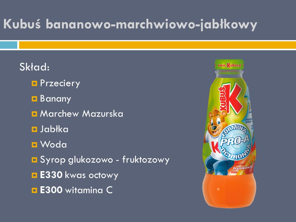 Kubuś bananowo-marchwiowo-jabłkowy