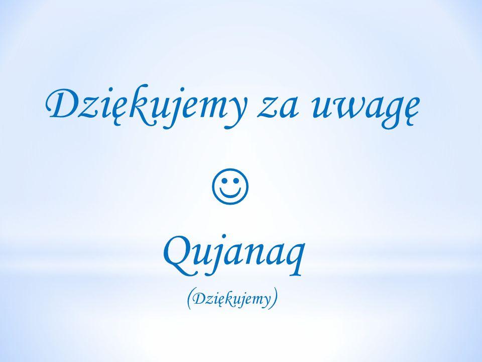 Dziękujemy za uwagę  Qujanaq (Dziękujemy)