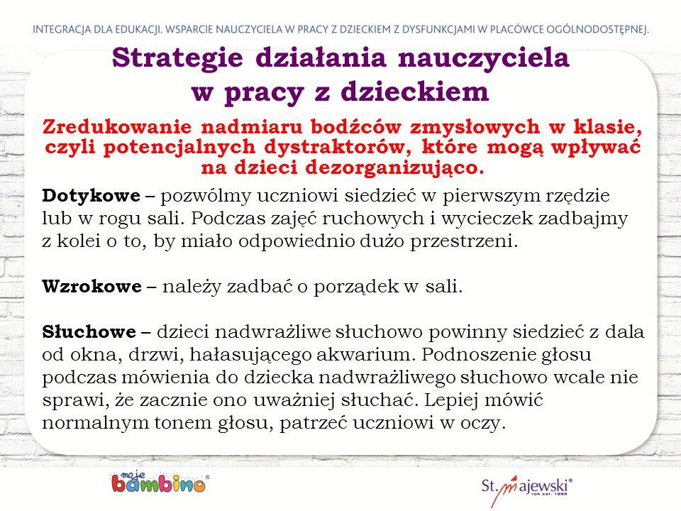 Strategie działania nauczyciela w pracy z dzieckiem