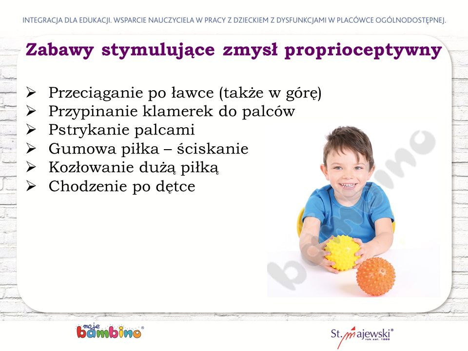 Zabawy stymulujące zmysł proprioceptywny