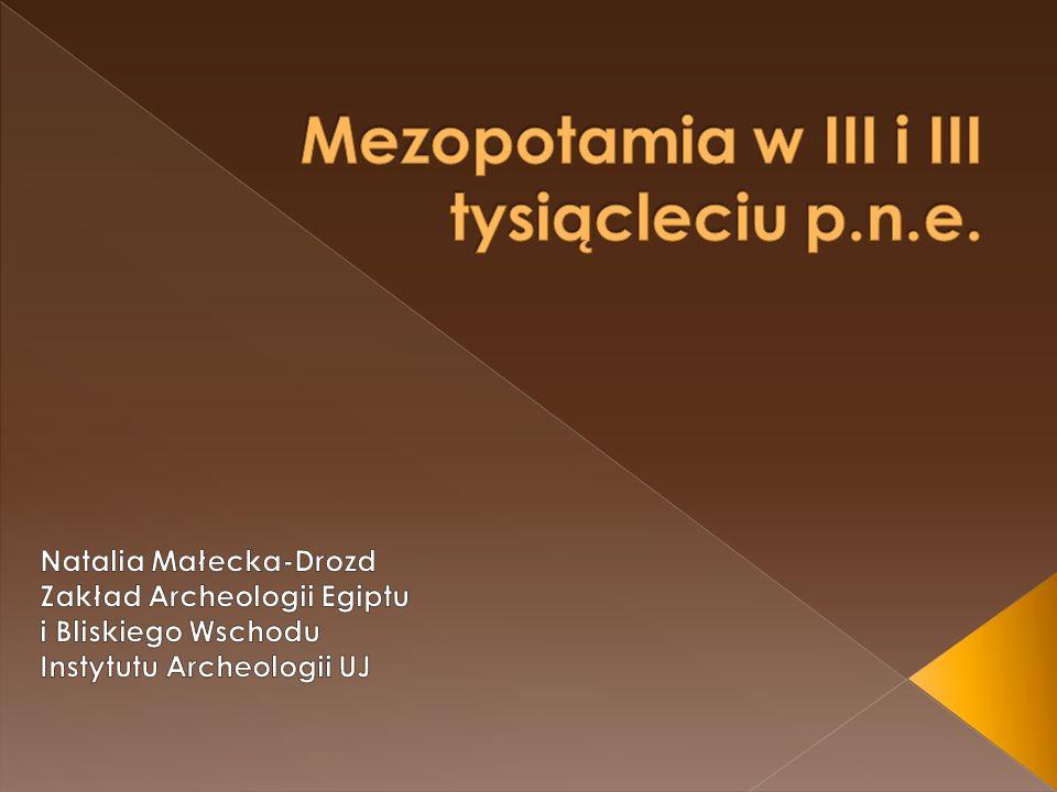 Mezopotamia w III i III tysiącleciu p.n.e.