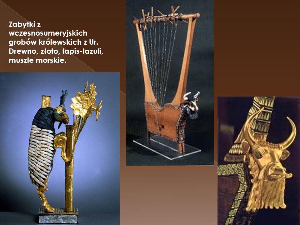 Zabytki z wczesnosumeryjskich grobów królewskich z Ur