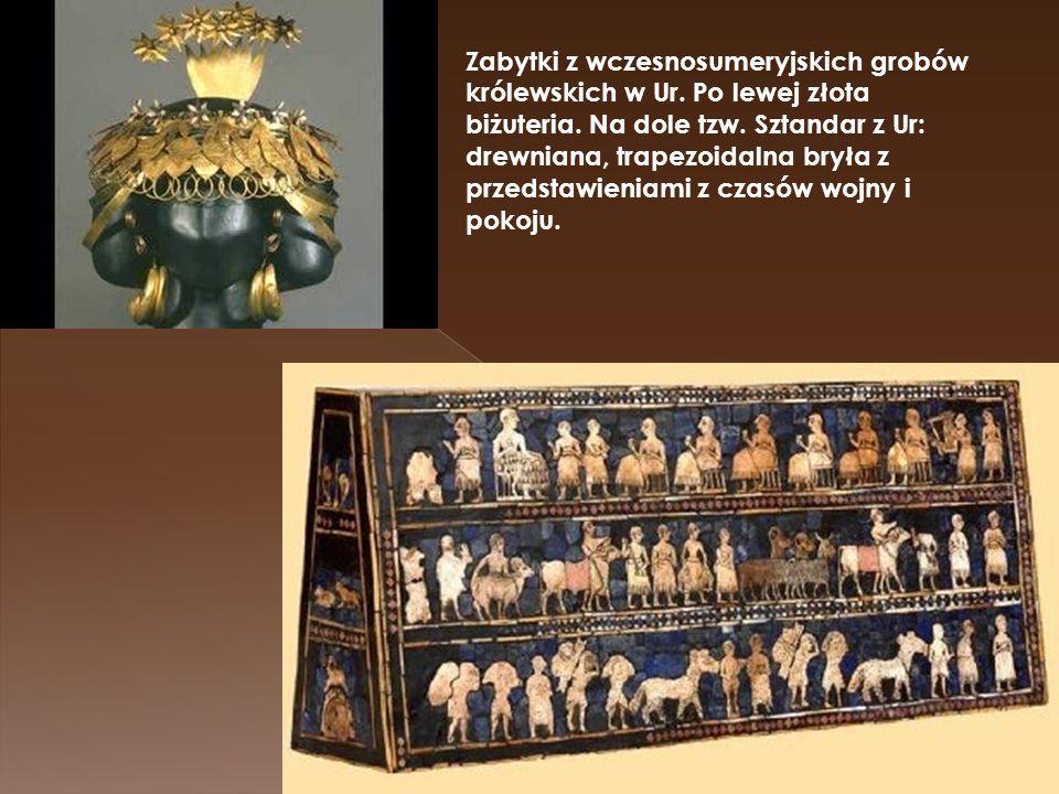 Zabytki z wczesnosumeryjskich grobów królewskich w Ur