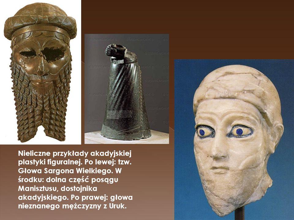 Nieliczne przykłady akadyjskiej plastyki figuralnej. Po lewej: tzw