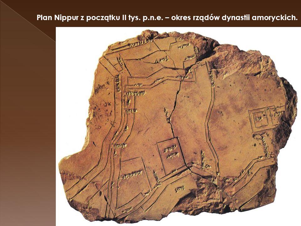 Plan Nippur z początku II tys. p. n. e