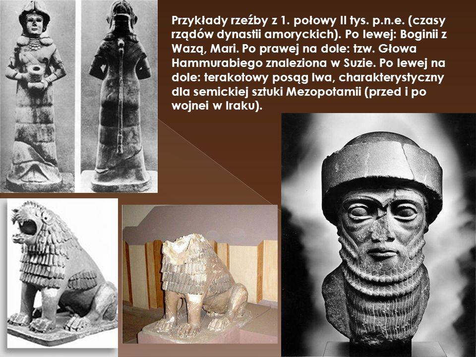 Przykłady rzeźby z 1. połowy II tys. p. n. e