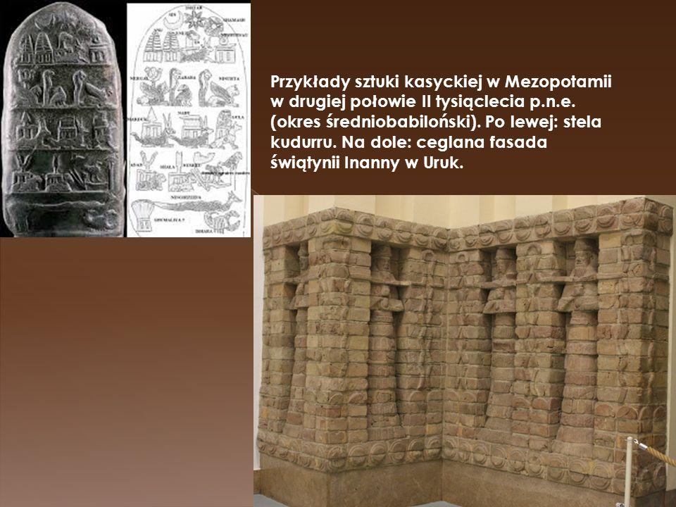 Przykłady sztuki kasyckiej w Mezopotamii w drugiej połowie II tysiąclecia p.n.e.