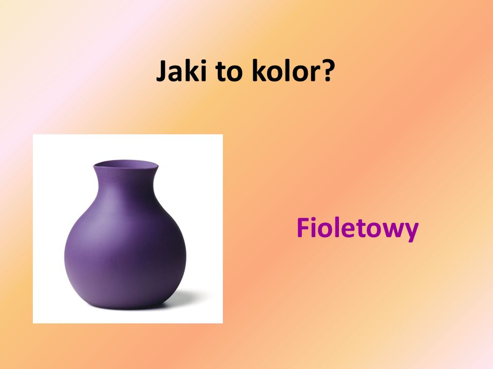 Jaki to kolor Fioletowy