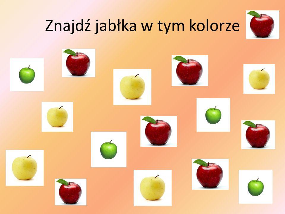 Znajdź jabłka w tym kolorze