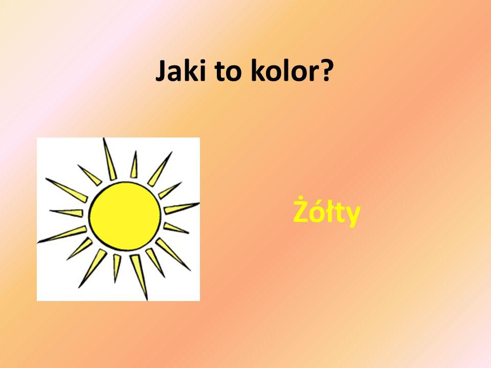 Jaki to kolor Żółty