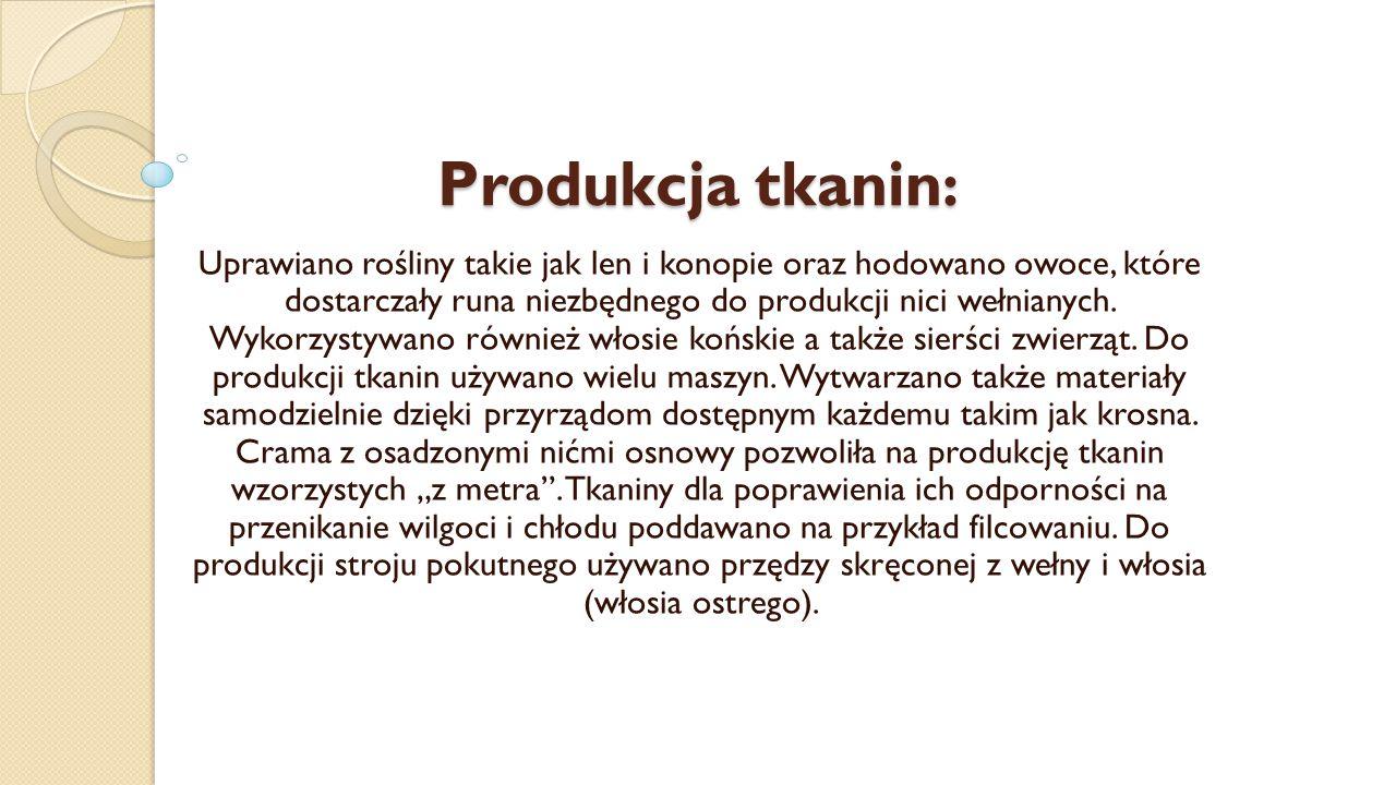 Produkcja tkanin: