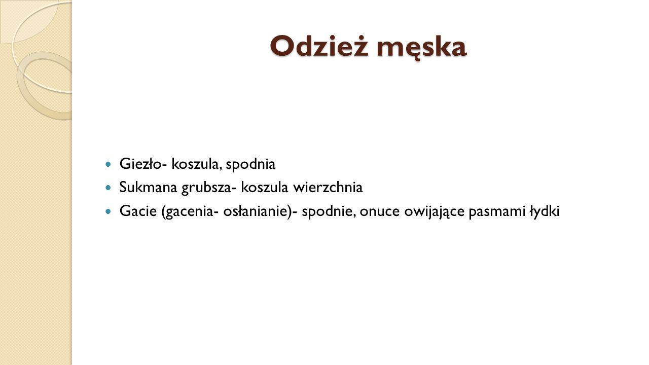 Odzież męska Giezło- koszula, spodnia