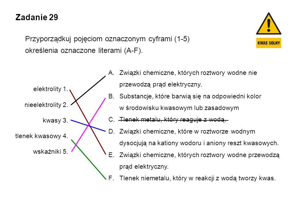 Zadanie 29 Przyporządkuj pojęciom oznaczonym cyframi (1-5)