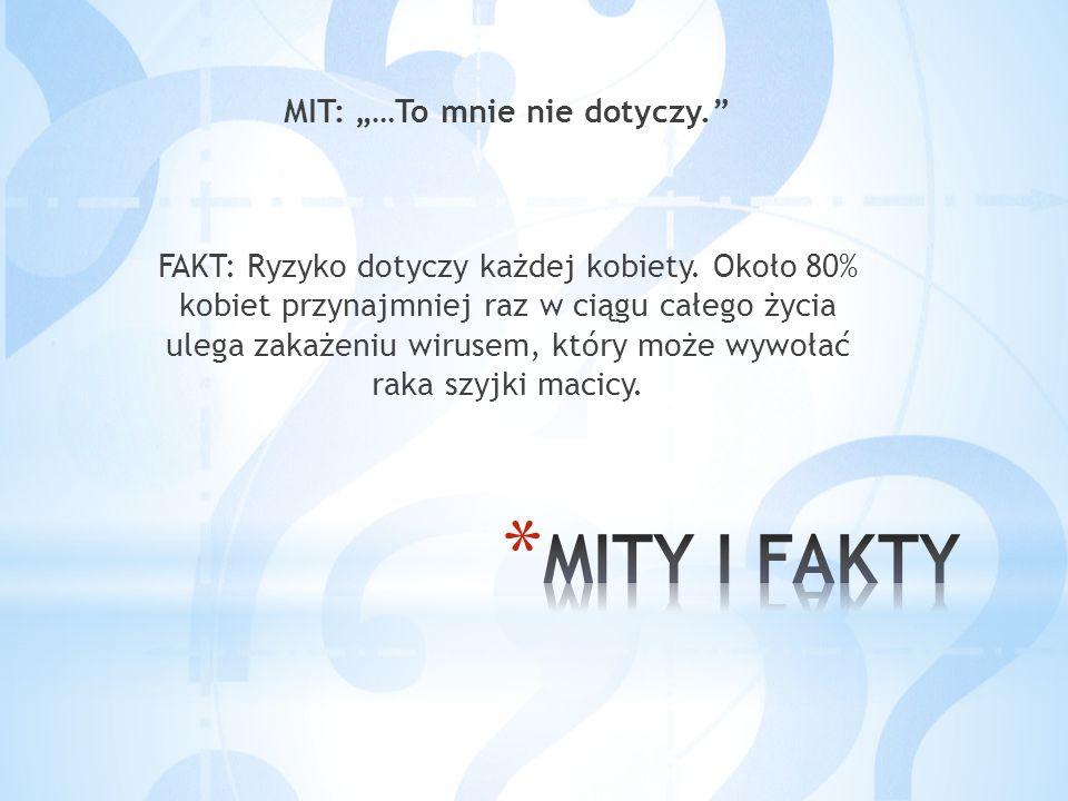 """MIT: """"…To mnie nie dotyczy. FAKT: Ryzyko dotyczy każdej kobiety"""