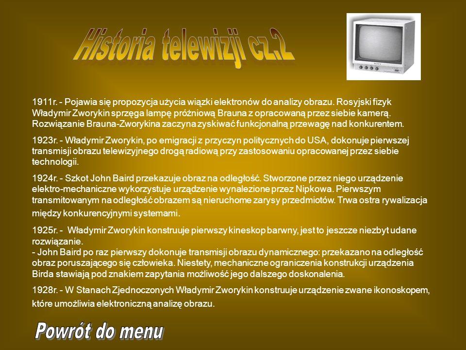 Historia telewizji cz.2 Powrót do menu