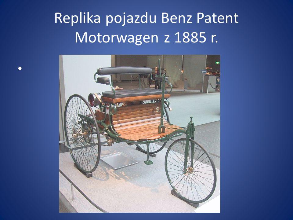 Replika pojazdu Benz Patent Motorwagen z 1885 r.
