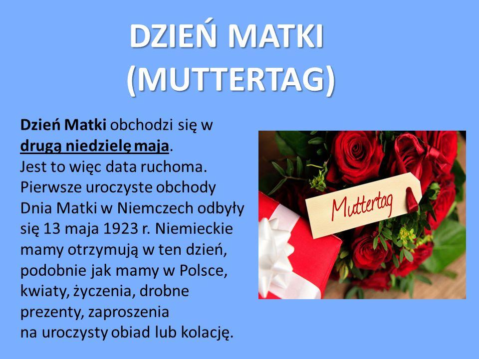 DZIEŃ MATKI (MUTTERTAG)