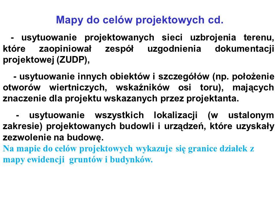 Mapy do celów projektowych cd.