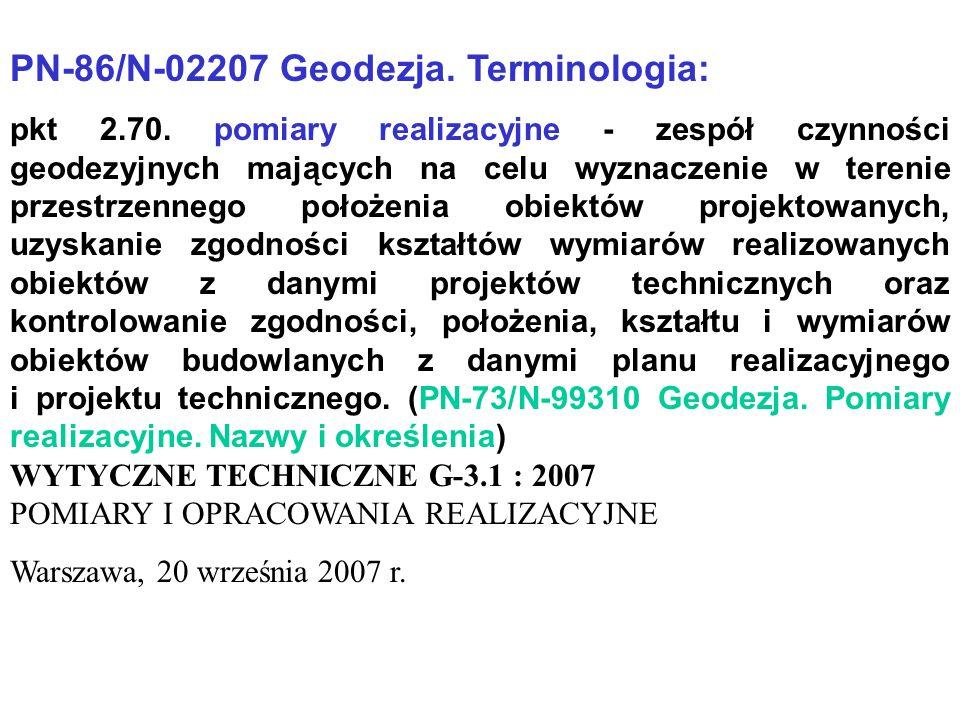 PN-86/N-02207 Geodezja. Terminologia: