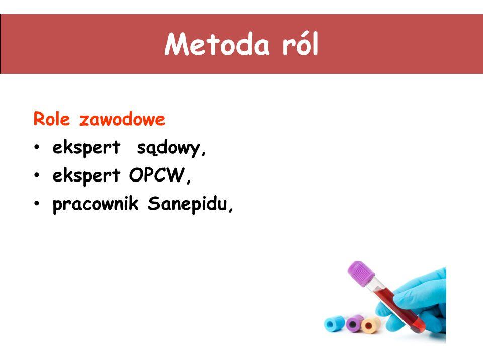 Metoda ról Role zawodowe ekspert sądowy, ekspert OPCW,