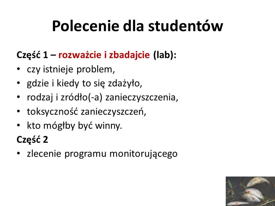 Polecenie dla studentów