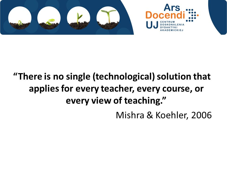 There is no single (technological) solution that applies for every teacher, every course, or every view of teaching.