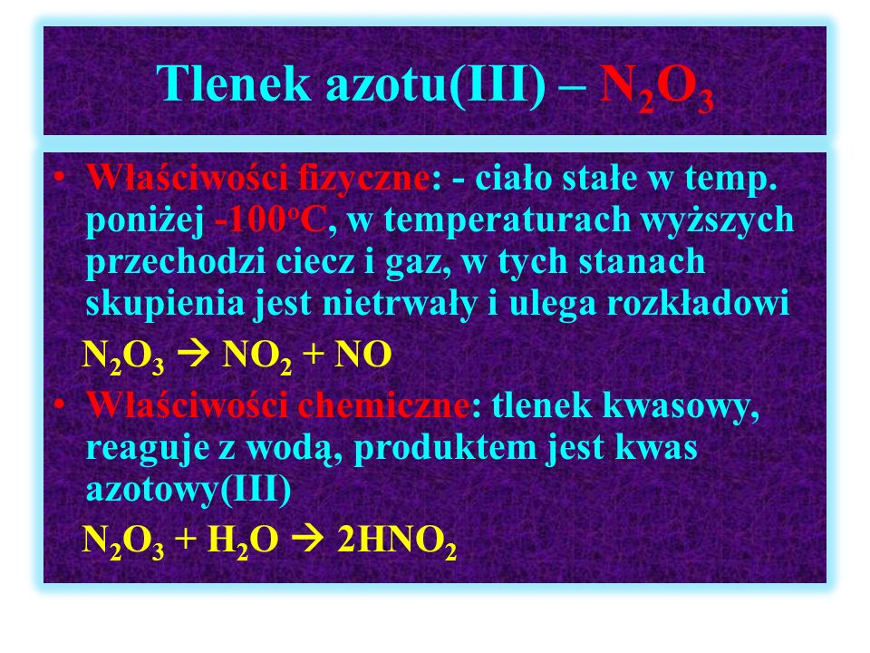 Tlenek azotu(III) – N2O3
