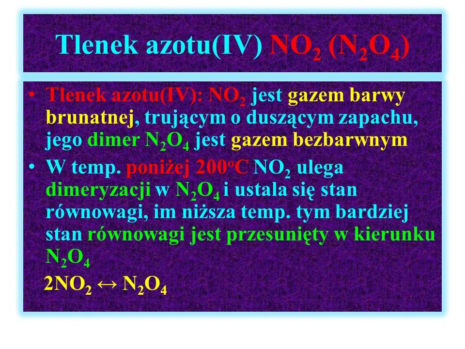Tlenek azotu(IV) NO2 (N2O4)
