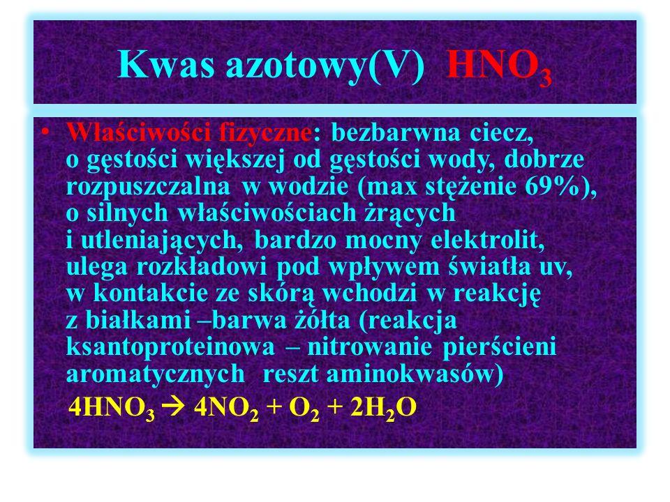 Kwas azotowy(V) HNO3