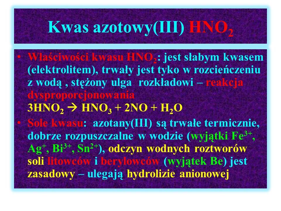 Kwas azotowy(III) HNO2
