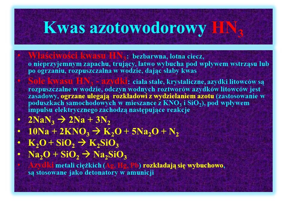 Kwas azotowodorowy HN3