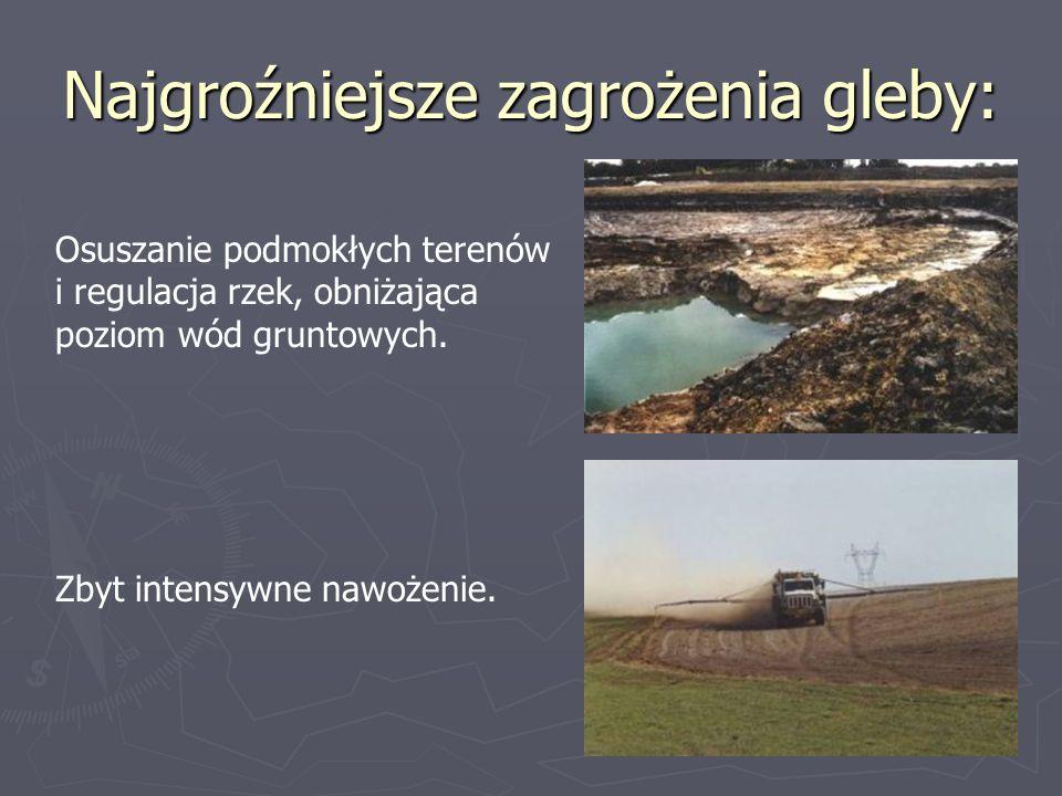 Najgroźniejsze zagrożenia gleby: