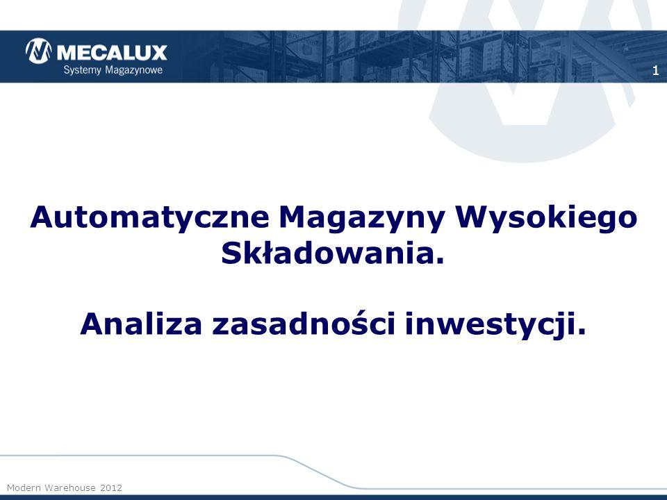 Automatyczne Magazyny Wysokiego Składowania.