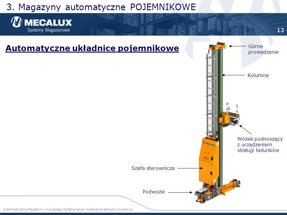 3. Magazyny automatyczne POJEMNIKOWE