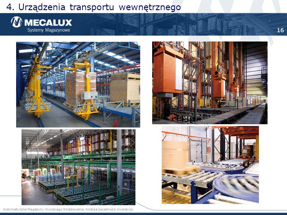 4. Urządzenia transportu wewnętrznego