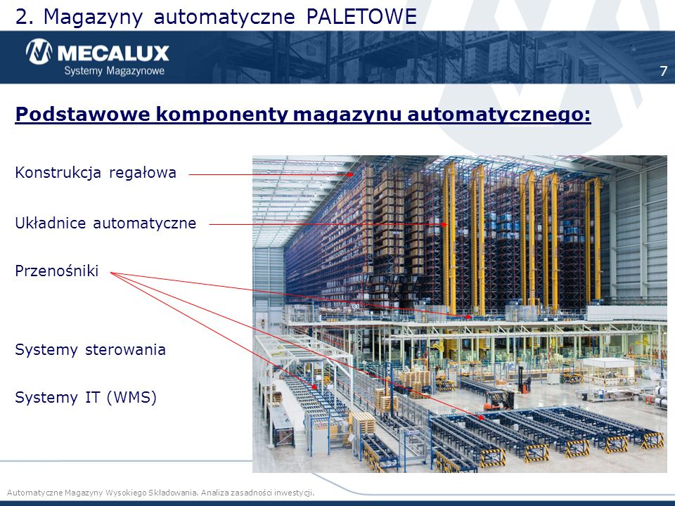 2. Magazyny automatyczne PALETOWE
