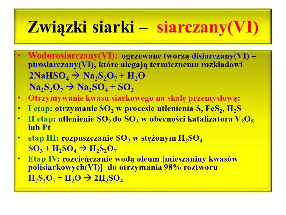 Związki siarki – siarczany(VI)