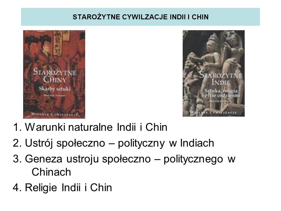 STAROŻYTNE CYWILZACJE INDII I CHIN