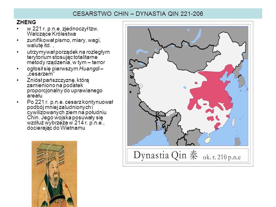 CESARSTWO CHIN – DYNASTIA QIN 221-206