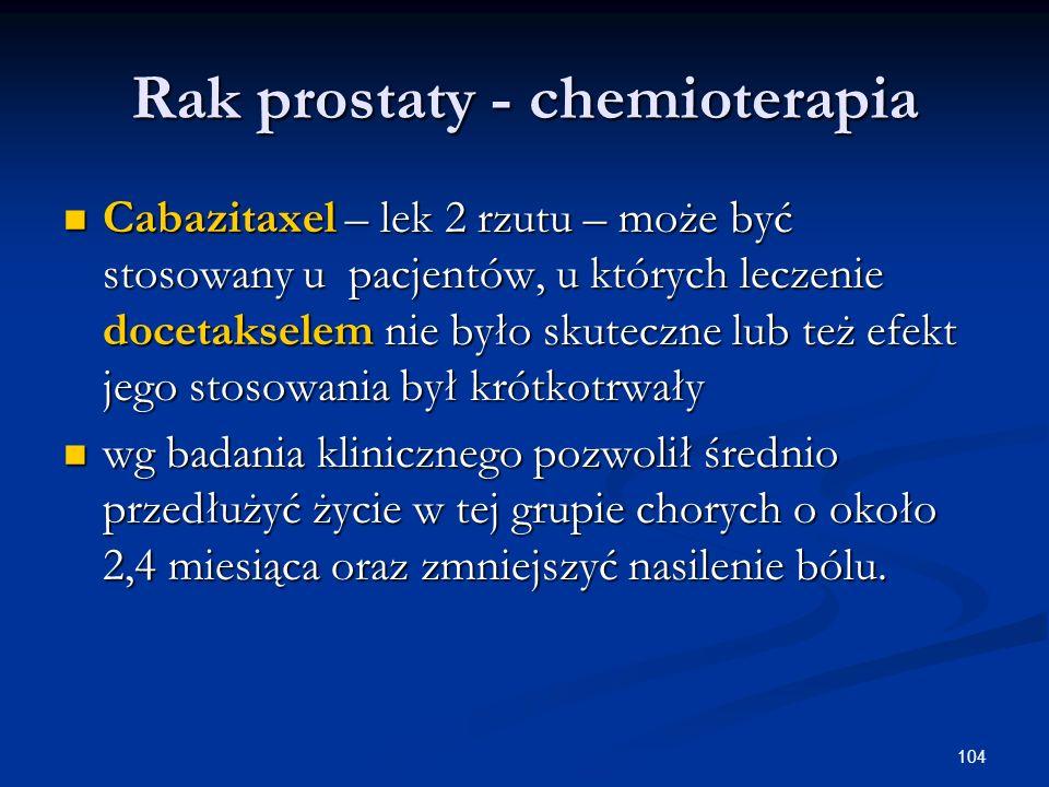 Rak prostaty - chemioterapia