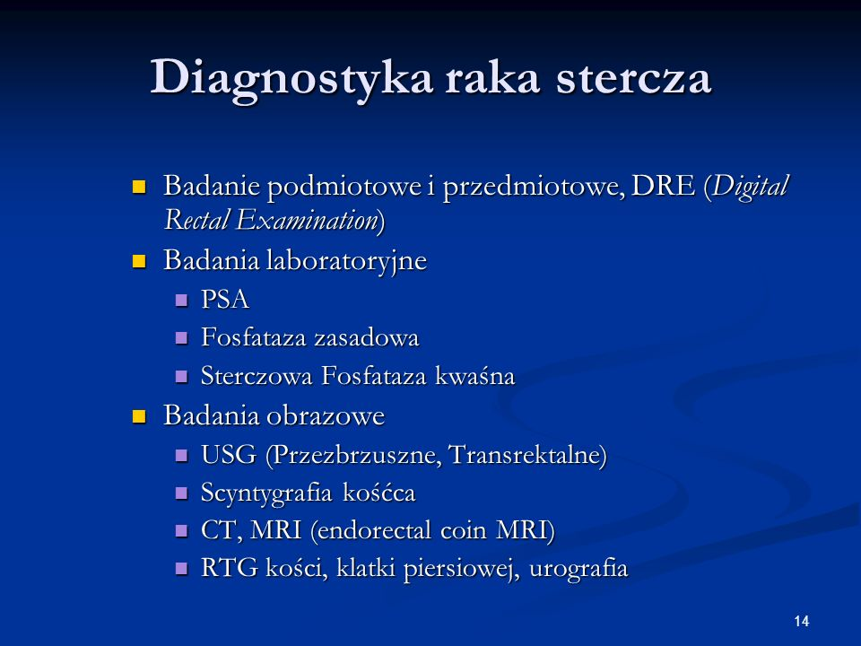 Diagnostyka raka stercza