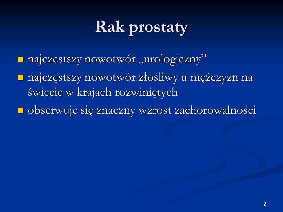 """Rak prostaty najczęstszy nowotwór """"urologiczny"""