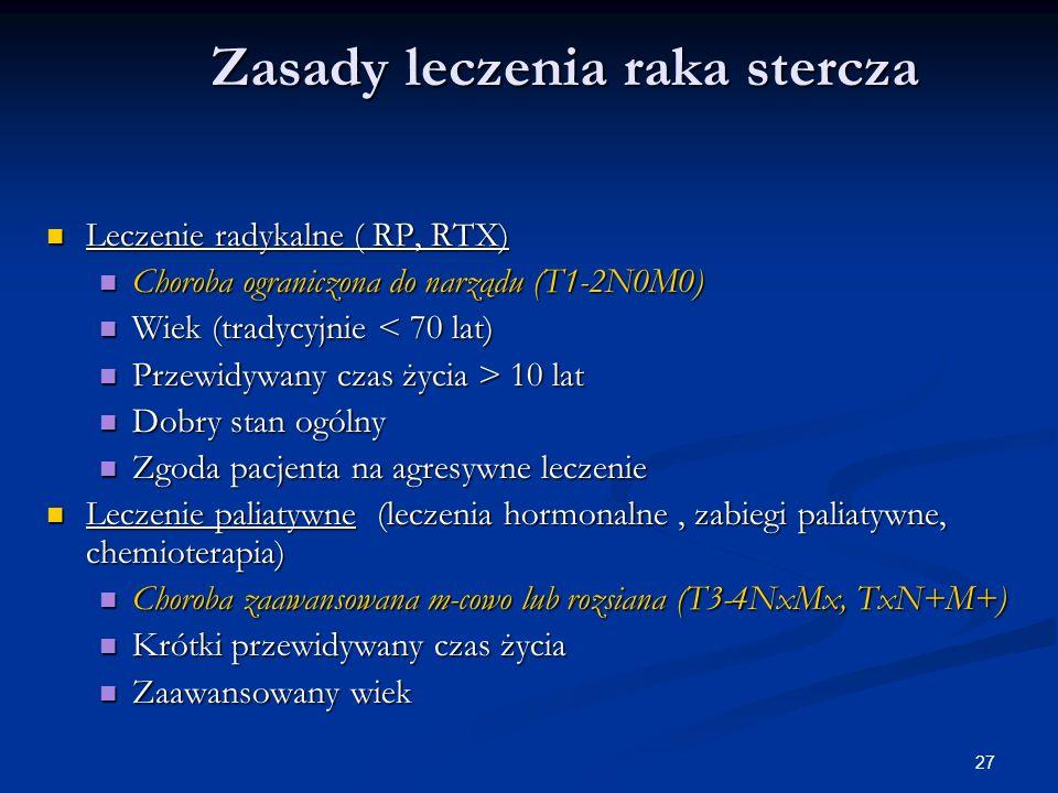 Zasady leczenia raka stercza