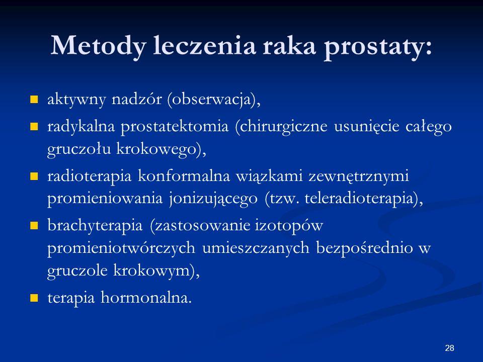 Metody leczenia raka prostaty: