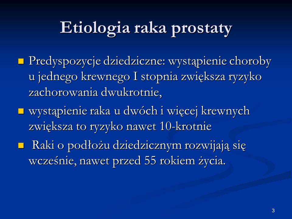 Etiologia raka prostaty